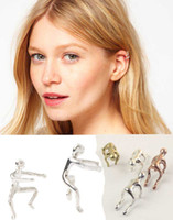 Wholesale 2016 new Jewelry Earrings fashion silver climbing man ear cuff wraps earring Jewelry