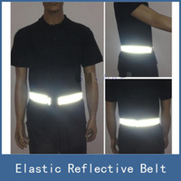 Wholesale New High Visibility Elastic Safety Reflective Vest Belt Waistband Chaleco Reflector for Night Outdoor Running Cycling Working