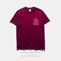 season - Mens T Shirt YEEZY SEASON i feel like pablo Tee short Sleeve O neck T Shirt Kanye West Letter Print Sportwear