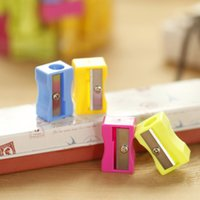 Wholesale Color Pencil Sharpeners plastic sharpeners free ship