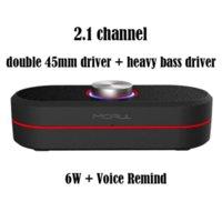 Wholesale 6W Wireless Portable Bluetooth Speaker NFC Channel mm HiFi Surround Stereo Deep Bass Handsfree Voice Remind Work Hours