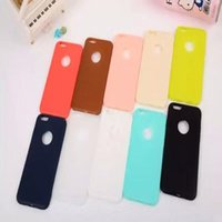 Wholesale Ultra Thin Candy Solid Color Soft TPU Gel Silicone Jelly Case Back Cover for iPhone S S SE Plus DHL