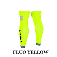 Wholesale TINKOFF PRO TEAM COLORS Cycling LEGwarmer Sun UV Protection Ciclismo LEG Warmers Size S XL