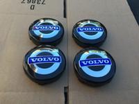Wholesale NEW VOLVO SET OF BLACK BLUE CENTER WHEEL COVER HUB CAPS EMBLEM RIM YY367