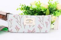 Wholesale pc set zakka Floral Canvas Student Pencil Bag Pencil case pencil case