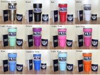 Wholesale New colors Tumbler Rambler Cups Yeti Coolers Cup oz Yeti Sports Mugs Large Capacity Stainless Steel Travel Mug