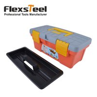 Wholesale Flexsteel High Quality Plastic Tool Box With Black Tray Inside Packed in Master Carton