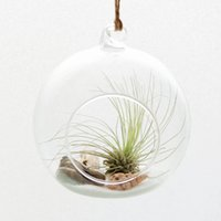 Wholesale Air Plant Hanging Terrarium with string Hanging Glass Vase For Home Decor Glass Vase As Gift
