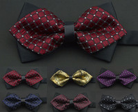Wholesale Men Bow Ties Commerce Tie Formal Bowknot Bow Neckties Neck Bowtie Adjustable For Wedding Party Polyester multi style