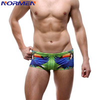 Wholesale Men s swimming Trunks New Personalized Bird Parrot Men s Boxer Swimming Trunks For Men