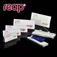 acrylic name holder - mobile phone Reppe hotel working staff clear acrylic chest name badge holder with pin magnetic