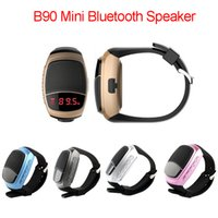 apple mini speakers - B90 Mini Bluetooth Speaker Smart Watch Speaker Wireless Subwoofers Speaker With Screen Support TF FM USB