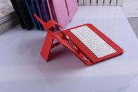 Wholesale Hot quot PU Leather Case Cover With USB Keyboard for quot inch Android Tablet PC