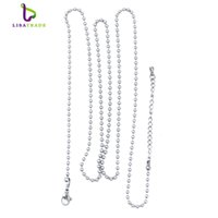 balls width - 10pcs Ball chains necklace Fit for moneda pendant coin locket mm width cm length stainless steel MICH01