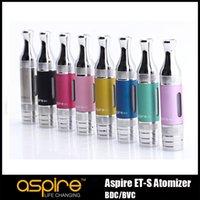 Wholesale Aspire ET S BDC Clearomizer ets ML Vaporizer ET S Atomizer Vape Tank Replacement Coils Metal Drip Tips glass tube