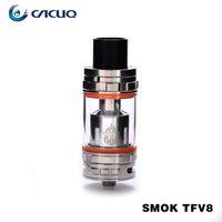 Wholesale Smok TFV8 Atomizer Original Smoktech ml TFV8 Cloud Beast Tank With V8 T8 V8 Q4 Coil Head Sub Ohm Tank mm Diameter
