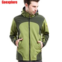 Wholesale Dropshipping men thermal fleece jacket waterproof hiking jacket mountaineering jacket windstopper softshell camping jackets