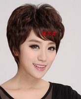 average men - 100 H Hair WIG FASHION STYLE SHORT NATURAL BLACK Hu man Hair Wig HAND MADE FOR BLACK WOMEN Heloise