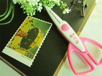Wholesale Paper Edger Pinking Shears Zig Zag Scissors Scrapbooking Decorative Craft Pattern Edged Scissors Sraft Scissors