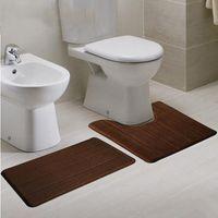 bath cushions - set cm cm U shape coral fleece bath rug mat set toilet bath mat restroom floor feet cushion closestool
