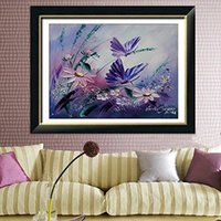 Wholesale 40x40cm D Flowers Butterfly DIY Rhinestone Painting Cross Stitch Kits Diamond Embroidery Set