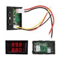 Wholesale High Quality V Voltmeter Ammeter A Red LED Panel Amp Digital Volt Gauge Display