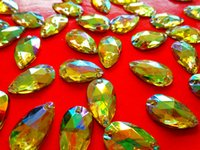 Wholesale Sew on Loose Beads Crystals Yellow AB colour Rhinestones Accessories Hand Sewing Stones mm