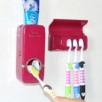 Wholesale new touch me Automatic Toothpaste Dispenser and Brush holder SET