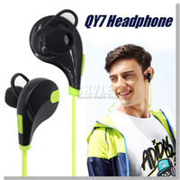 apple headphones mic - In ear Bluetooth Headphone QCY QY7 Bluetooth Stereo Earphone Fashion Sport Running Headsets Studio Music Earphone With Mic In Retail Box