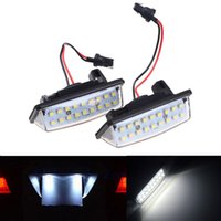 Wholesale 2Pcs Error Free SMD LED License Number Plate Light Lamps fit for Nissan TEANA J31 J32 Maxima Cefiro Altima Rogue Sentra
