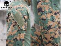 Wholesale Airsoft combat uniform Emerson tactical BDU USMC FROG SHIRT amp PANTS Suits WOODLAND MARPAT EM6908 price