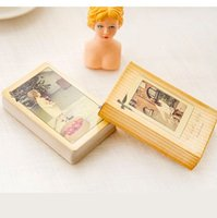 Wholesale High quality novelty photograph Poker cards paper retro playing cards beautiful view photo poker set
