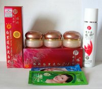 Wholesale Hot selling TaiWan New YiQi Beauty Whitening Effective In Days A B C face cream Facial Cleanser red cover Set