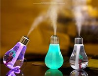 Wholesale New Mini Bulb Design USB Aromatherapy Air Humidifier With LED Light Essential Oil Aroma Diffuser Home Office Mist Maker
