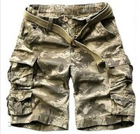 Wholesale Cotton Outdoor Camouflage Cargo Military Blue Beach Shorts With Belt Men Army Short Pants Loose Running Shorts Plus Size Men Casual