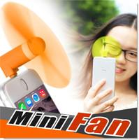 venda por atacado mini fan-Para Apple iPhone 6 6s Plus Mini ventilador de ar USB 5Pin portátil flexível Super Mute Cooler de mão de refrigeração para Android telefone inteligente com pacote