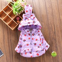 berry coat - Baby Kids Clothing Outwear cotton padded clothes coat GirlS winter Hooded long sleeve minnie mouse berries Thick Parkas jacket