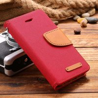 Wholesale New i5 SE Book Flip Style phone case Cloth Skin Full Protective Case For iPhone S Card Slot Wallet Holster Leather Cover cases