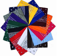 Wholesale Newest Cotton Blend Hip hop Bandanas For Male Female Head Scarf Scarves Wristband hot selling