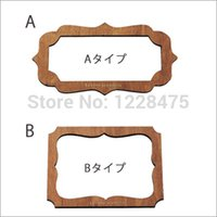 Wholesale Retro Zakka Style Place Card Template Gift Card Maker DIY Manual stencil mould make Holiday Card