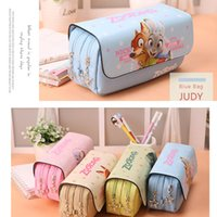 Wholesale High Quality Zootopia multi function Stationery Bag High Capacity Pencil Bags Students Stationery Bags Cosmetic Bag Pencil Cases School