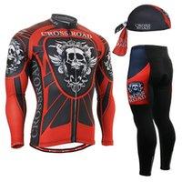 bicycle leggings - Life on Track Mens Long sleeve Cycling Jersey Set Road Bike MTB Bicycle wear amp Padded Long Pants Tights Leggings Beannie Gift