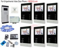 apartment door lock - For Apartments Professional Smart Home Inch Video intercom system video door phone RFID Electronic lock In Stock
