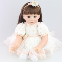 bebe collection - Hot inch Reborn Baby Doll Lifelike Girls Vinyl baby dolls Baby Toys Cute Soft Reborn Bebe Toddler Collection Dolls