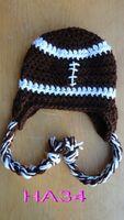 baby football hat - Autumn Winter Handmade Crochet Baby Boy Girl Soccer Football Striped Knitted Beanie Newborn Infant Toddler Kids Hat Children Cap Cotton
