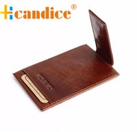 Wholesale case supplier Brand new fashion Money Clip High Quality Leather Magnet clip Ultrathin Pocket Clamp Credit Card Case ID card case Gift