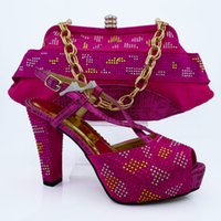 bag platform - Tigh laced comfortable shoes and bag maching set woman shoes high heel shoes with shinning stones PU leather bag Italian desigh