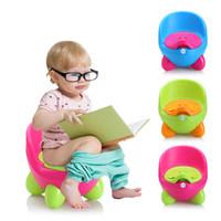 Wholesale Baby Potty Training Toilet Plastic Non slip Kids Toilet Seat Foldable Protable Travel Potty Chair Infant Children Pee Trainer