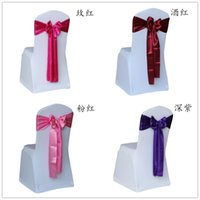 Wholesale new arrival wedding chair sashes satin chair sashes covers for weddings chair sash chair decorations bowknot sash for party self tie