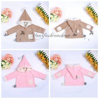 Wholesale High quality Winter Kid s Children Girls Coat Cute Hooded Jacket Faux Suede Warm Coat Button Overcoat Outerwear Coats Children Clothing Z481